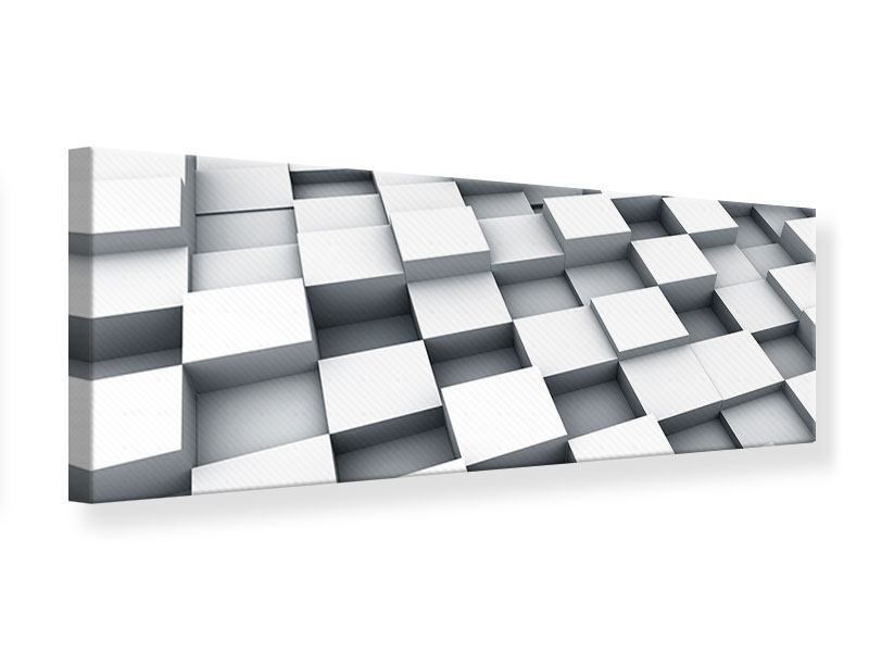Leinwandbild Panorama 3D-Kubus