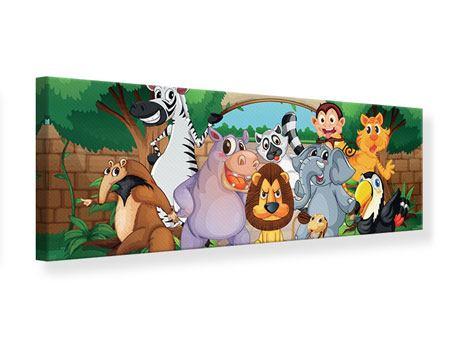 Leinwandbild Panorama Der lustige Zoo