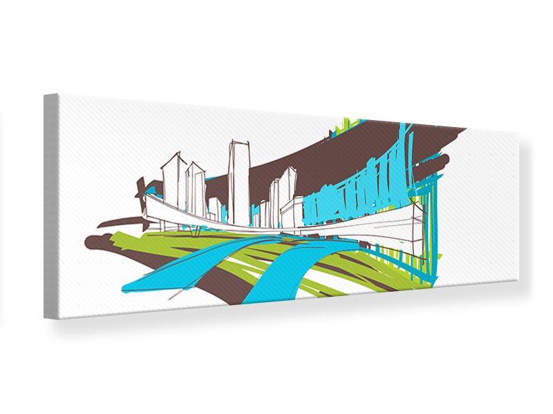 Leinwandbild Panorama Graffiti Street-Art