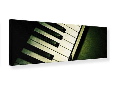 Leinwandbild Panorama Close Up Klavier