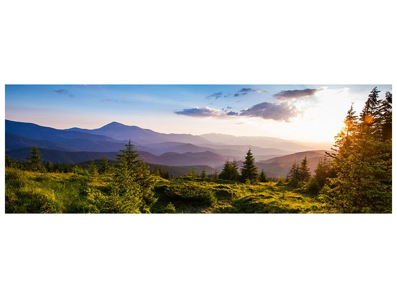 Leinwandbild Panorama Friedliche Landschaft