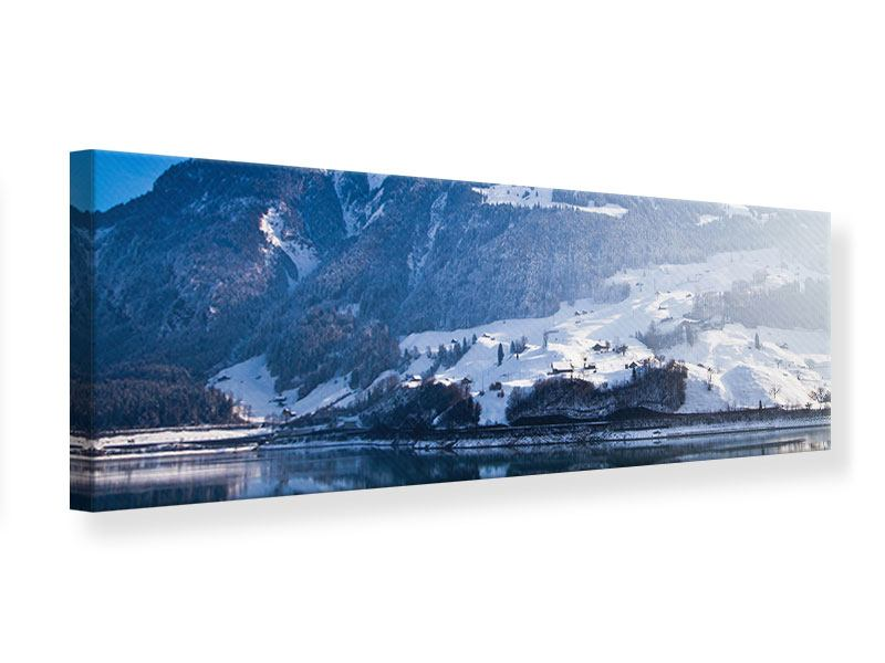 Leinwandbild Panorama Winterwunderland