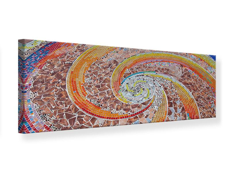 Leinwandbild Panorama Mosaik
