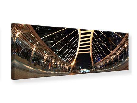 Leinwandbild Panorama Avantgardistische Brücke