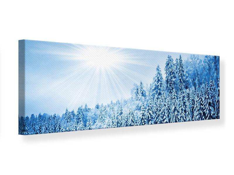 Leinwandbild Panorama Wintermärchen