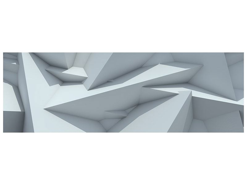 Leinwandbild Panorama 3D-Kristallo