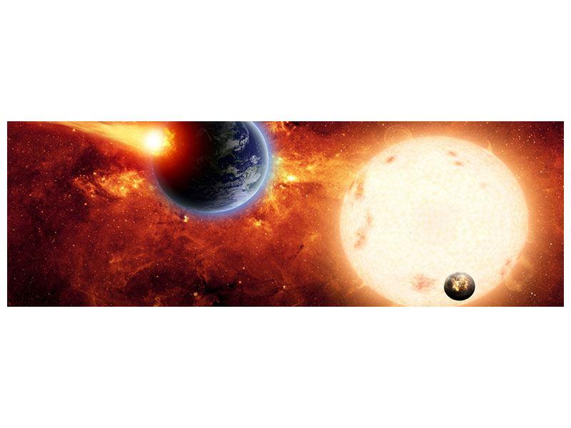 Leinwandbild Panorama Der Kosmos