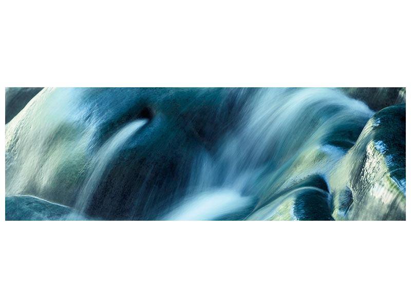 Leinwandbild Panorama Das Fliessende Wasser