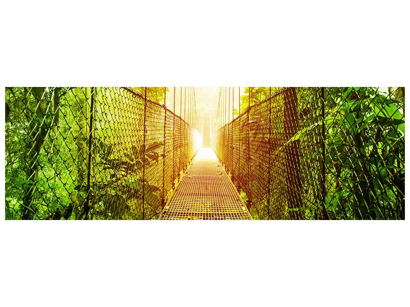 Leinwandbild Panorama Hängebrücke