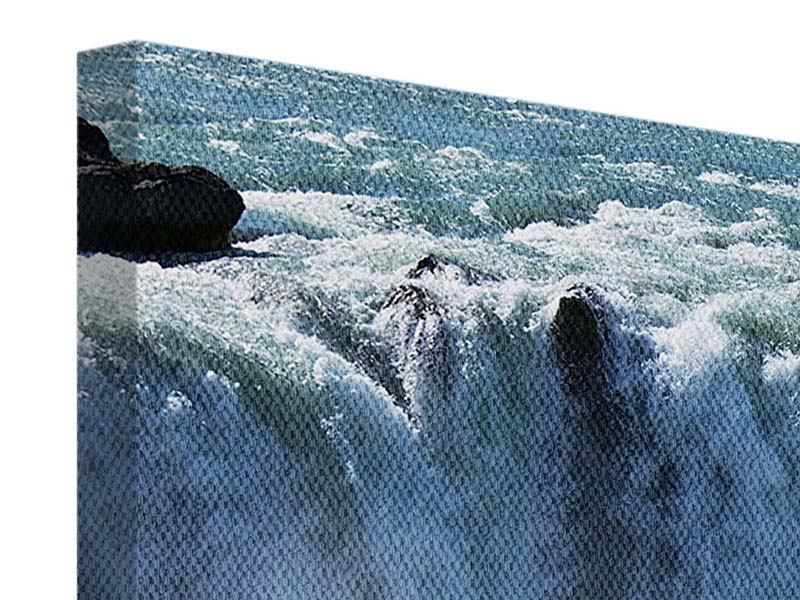 Leinwandbild Panorama Mächtiger Wasserfall
