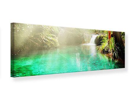 Leinwandbild Panorama Die grüne Lagune