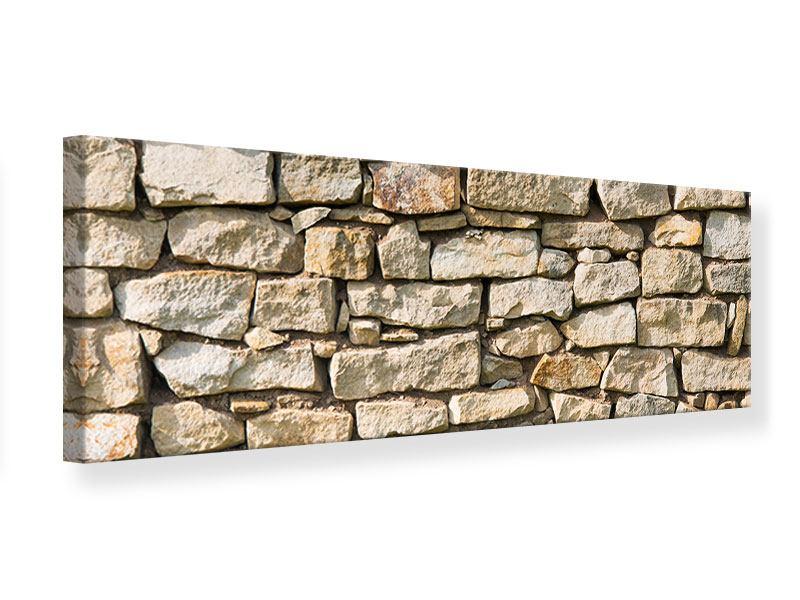 Leinwandbild Panorama Natursteine