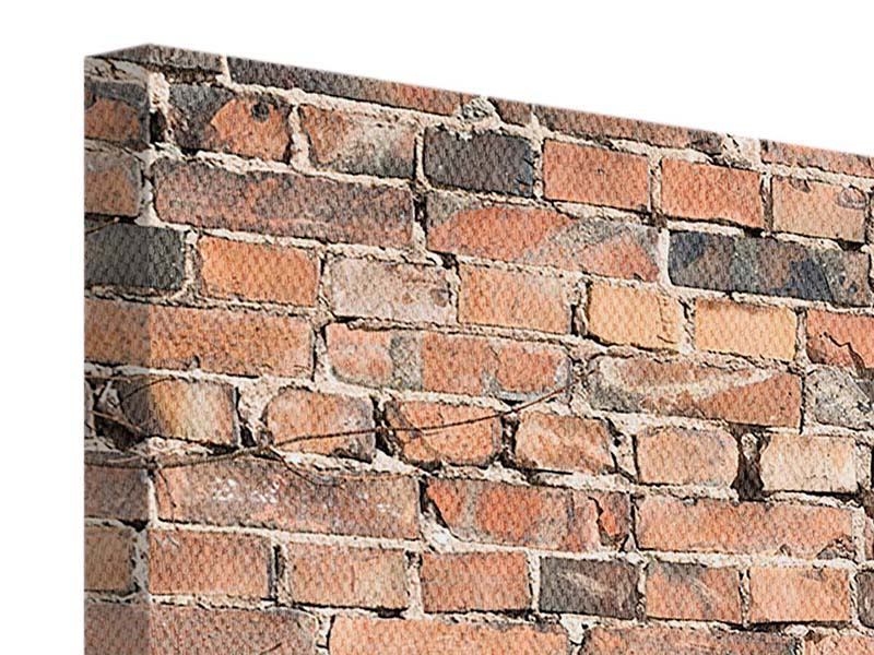 Leinwandbild Panorama Alte Backsteinmauer