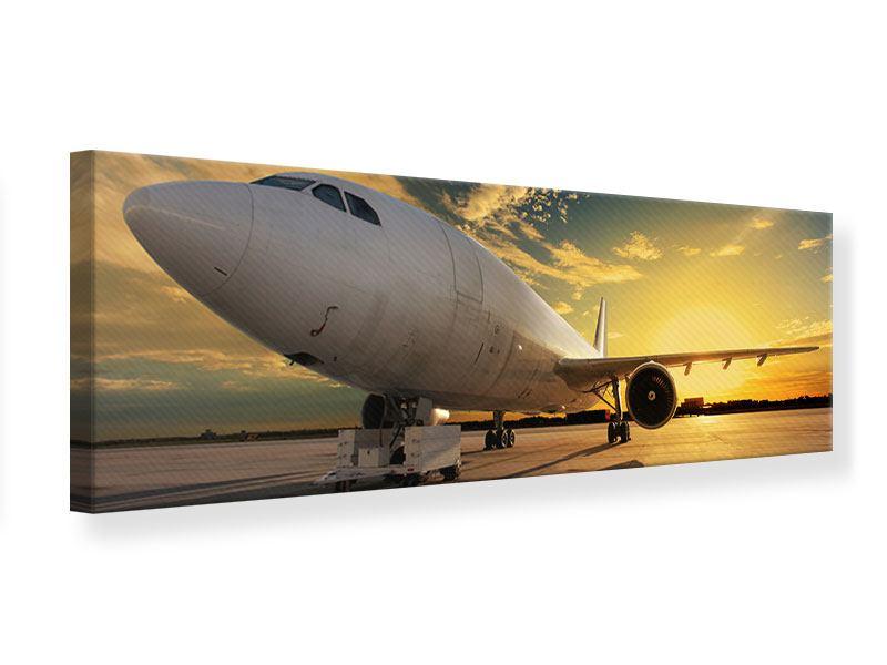 Leinwandbild Panorama Jet