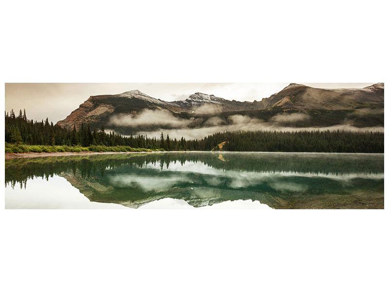 Leinwandbild Panorama Spiegelung im Glacier Nationalpark