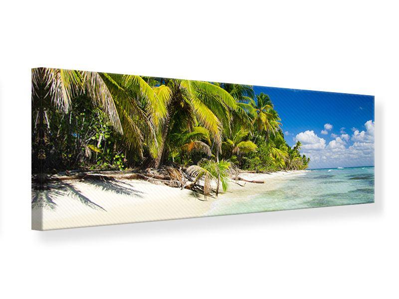 Leinwandbild Panorama Die einsame Insel