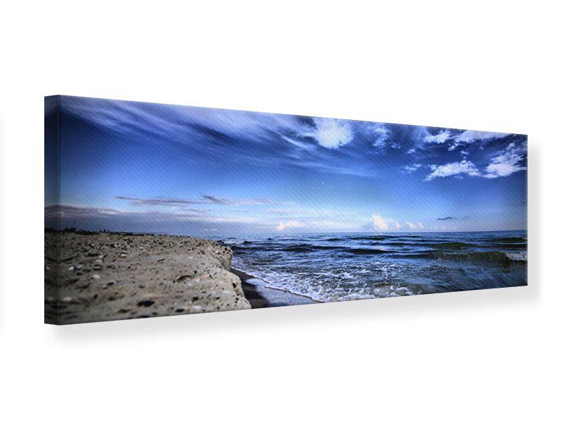 Leinwandbild Panorama Strandwellen