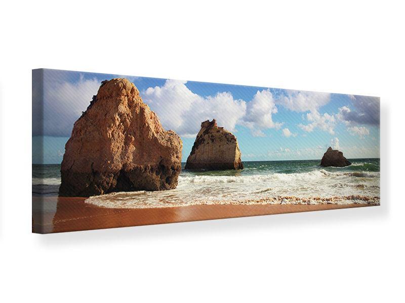 Leinwandbild Panorama Strandgedanken