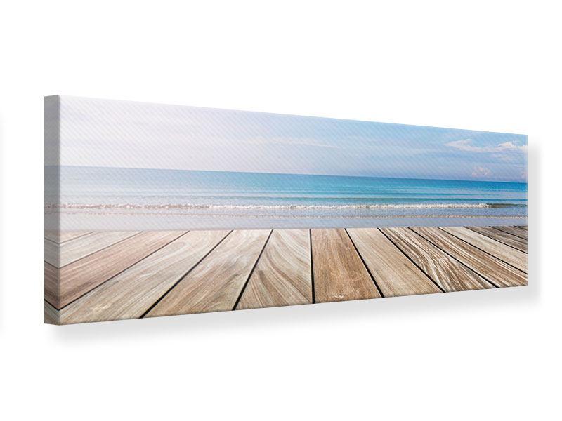 Leinwandbild Panorama Das schöne Strandhaus