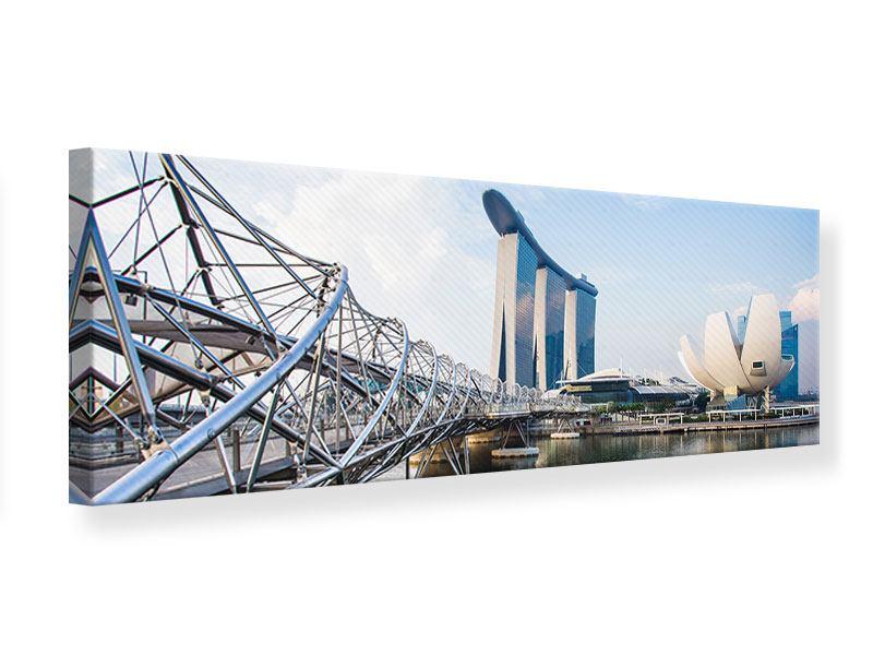 Leinwandbild Panorama Singapur