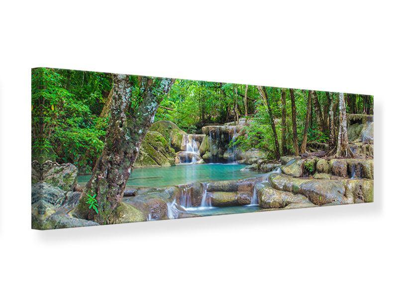 Leinwandbild Panorama Wasserspektakel