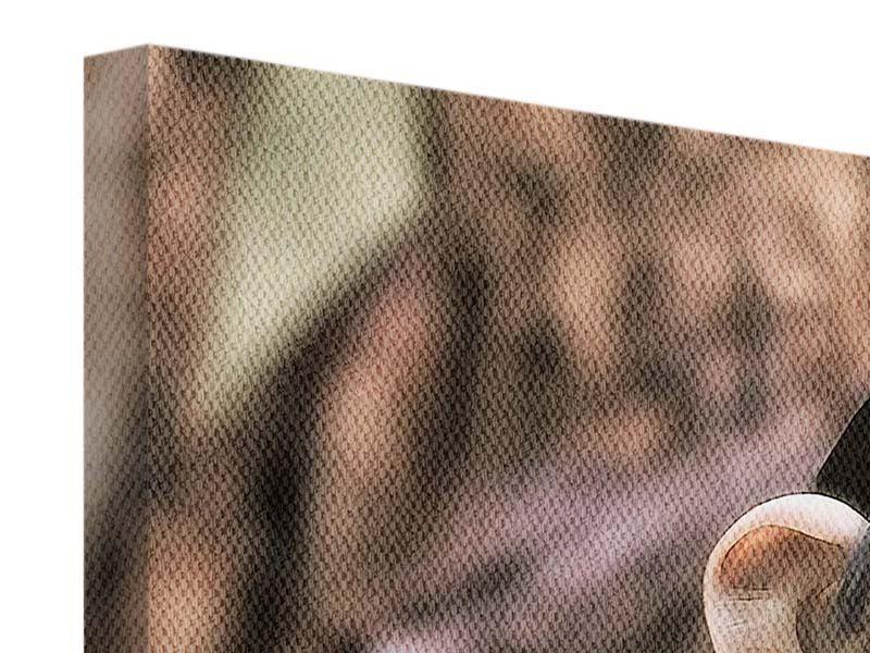 Leinwandbild Panorama Der Schimpanse