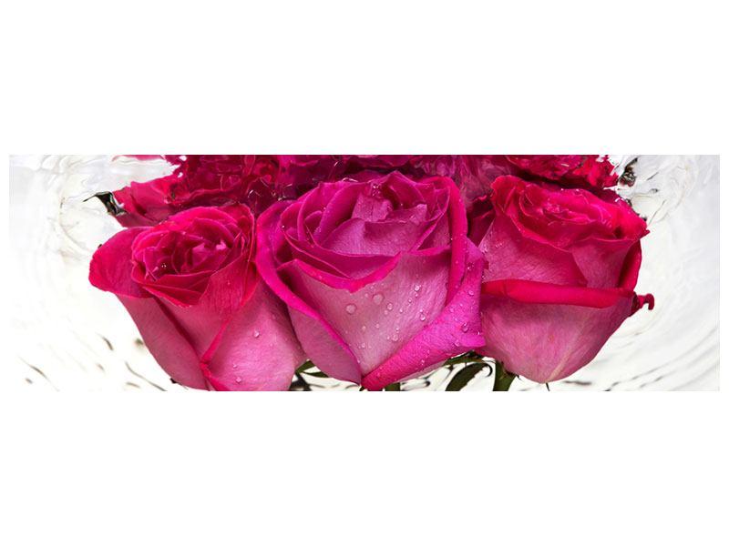 Leinwandbild Panorama Die Rosenspiegelung