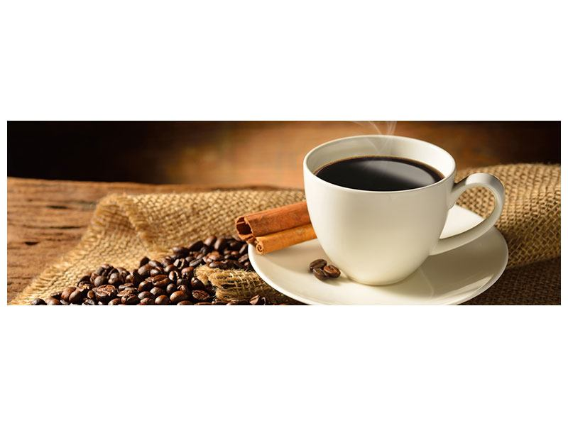 Leinwandbild Panorama Kaffeepause