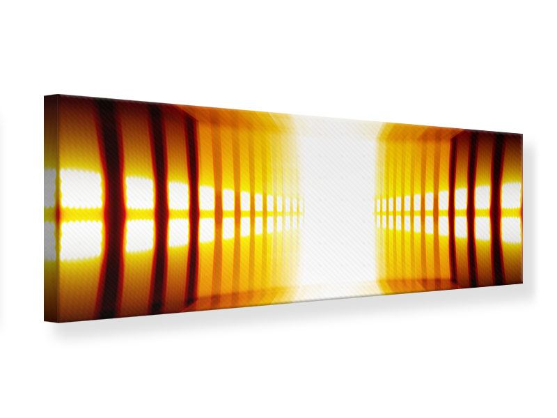 Leinwandbild Panorama Abstrakter Goldener Raum