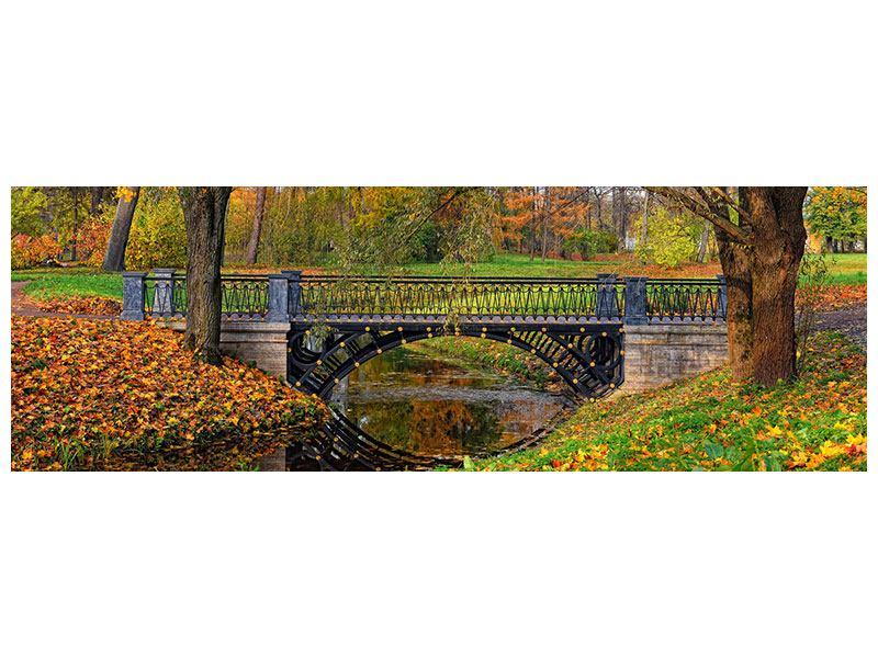Leinwandbild Panorama Romantischer Park