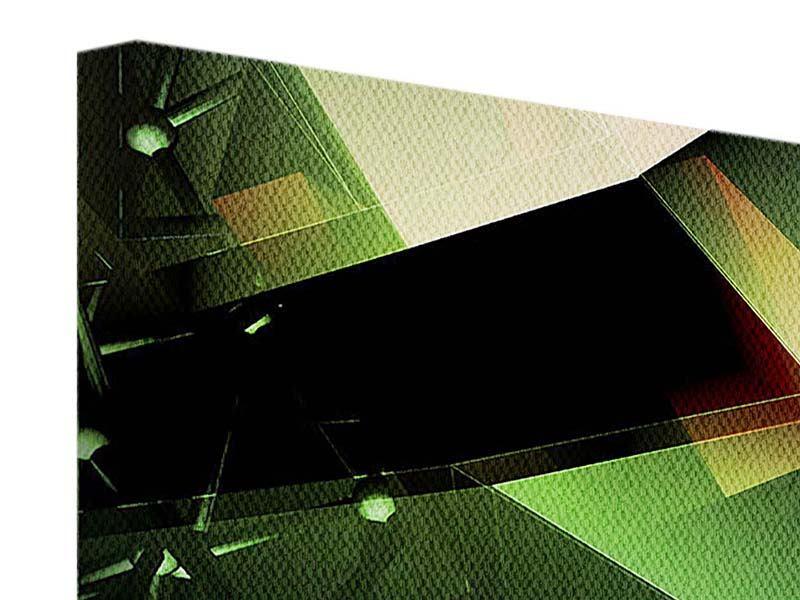 Leinwandbild Panorama 3D-Polygon