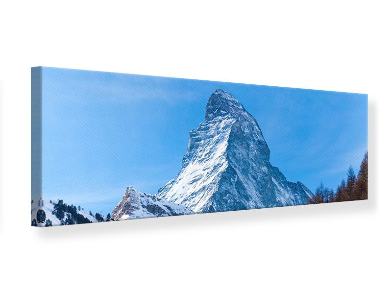 Leinwandbild Panorama Das majestätische Matterhorn