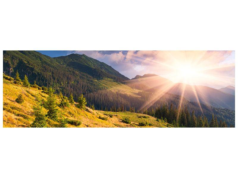 Leinwandbild Panorama Herbstanfang