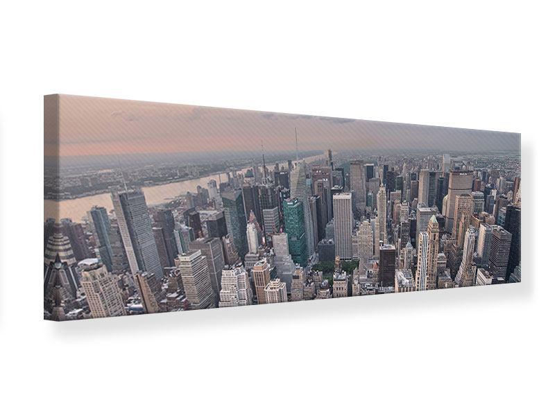 Leinwandbild Panorama Skyline Blick über Manhattan