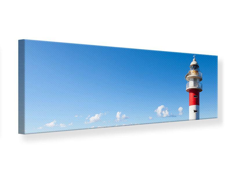 Leinwandbild Panorama Leuchtturm in Punta Teno