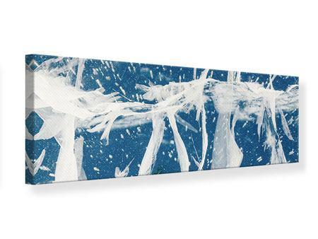 Leinwandbild Panorama Eiskristalle