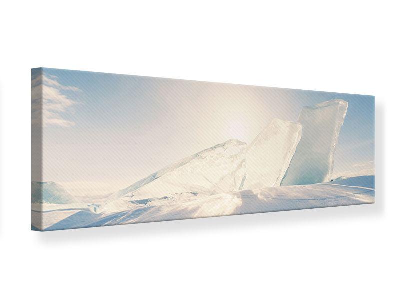 Leinwandbild Panorama Eislandschaft