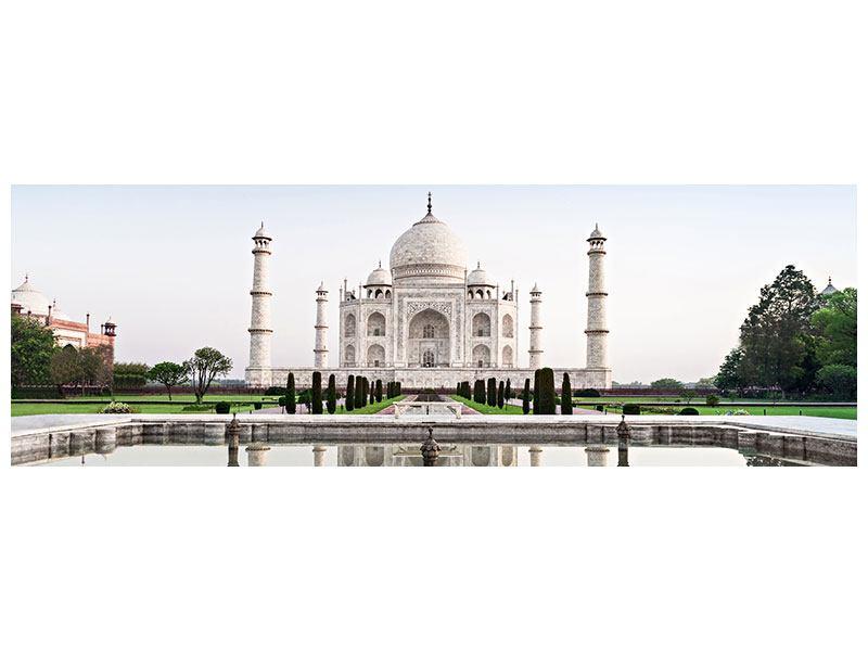 Leinwandbild Panorama Taj Mahal