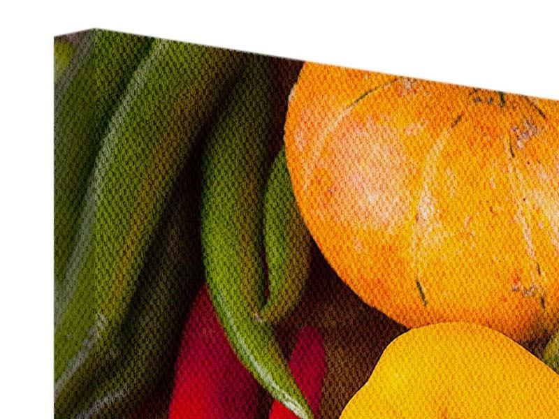 Leinwandbild Panorama Gemüsefrische