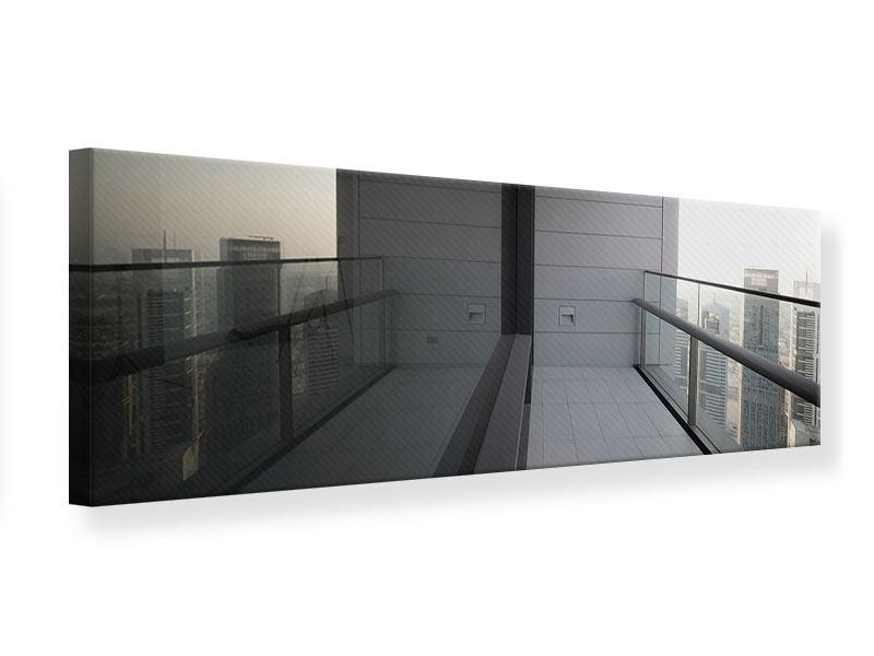 Leinwandbild Panorama Balkon in Dubai