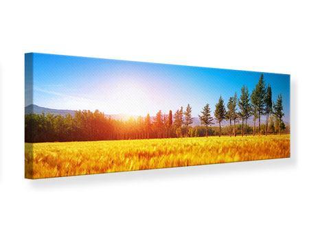 Leinwandbild Panorama Der Herbst