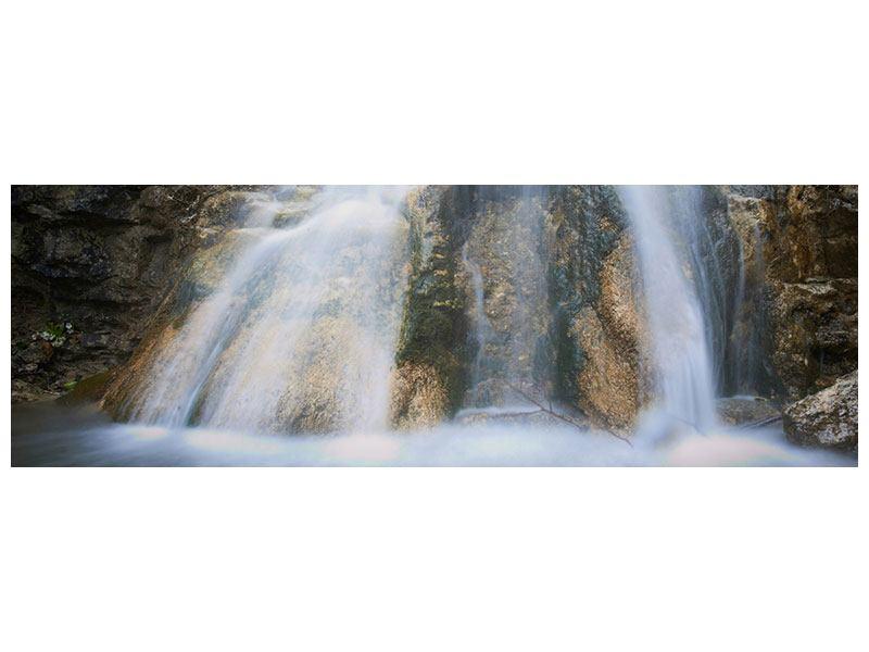 Leinwandbild Panorama Imposanter Wasserfall