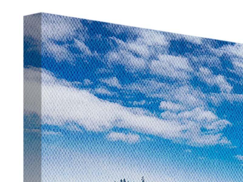 Leinwandbild Panorama Wolken ziehen auf