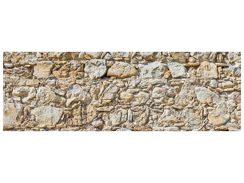 Leinwandbild Panorama Sandsteinmauer