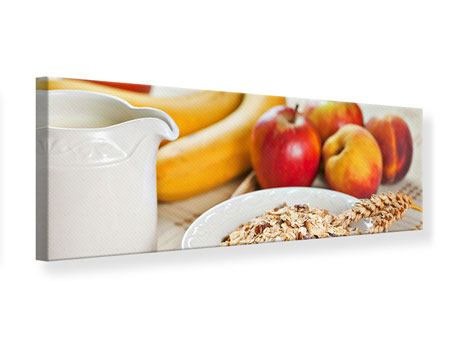 Leinwandbild Panorama Frühstück