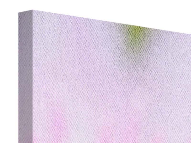Leinwandbild Panorama XXL-Lilie