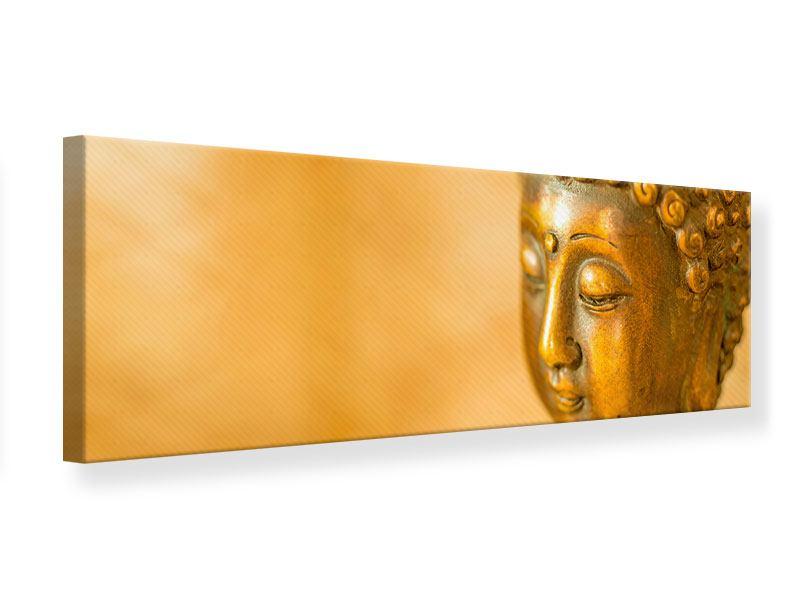 Leinwandbild Panorama Buddha Kopf