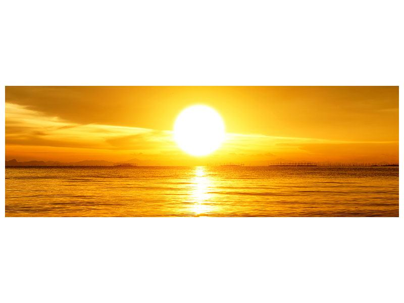 Leinwandbild Panorama Traumhafter Sonnenuntergang