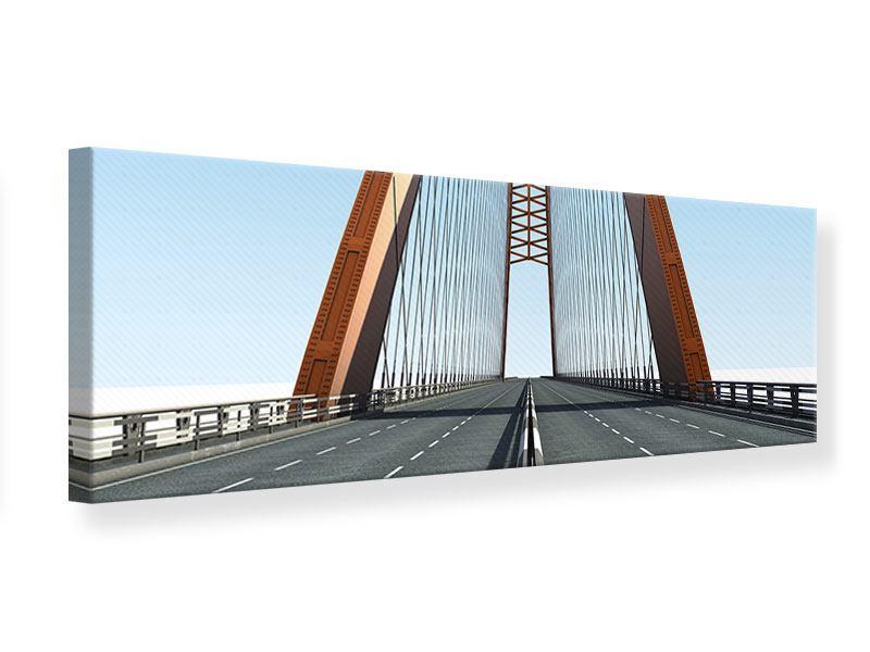 Leinwandbild Panorama Brückenpanorama