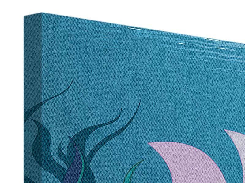 Leinwandbild Panorama Die Meerjungfrau